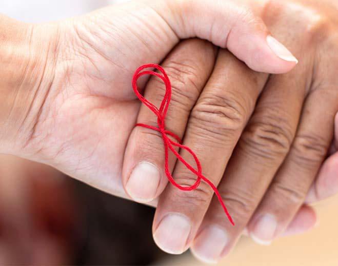 holding hands dementia